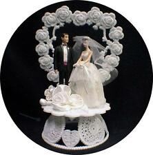 Romantic 1950 STYLE  Dark brown Hair Barbie Ken Wedding Cake Topper Fairytale
