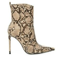 Snakeskin Print Women's Ladies Pumps Pointy Toe Ankle Boots Shoes Runway Show L