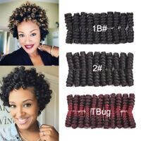 "8""Kanekalon Afro Spring Twist Curly Hair Jamaican Bounce Synthetic Crochet Braid"