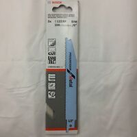 S123XF  5 X BOSCH RECIPROCATING SAW BLADES METAL BIM fast cut 8-14 tpi 150mm 6""