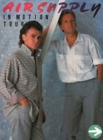 AIR SUPPLY 1986 IN MOTION TOUR CONCERT PROGRAM BOOK BOOKLET / EX 2 NEAR MINT