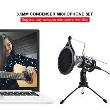Kondensator Mikrofon Studiomikrofon Recording Set,für Studio Aufnahme PC Podcast
