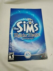 Sims Makin' Magic Expansion PC Big Box AUTHENTIC MANUAL ONLY
