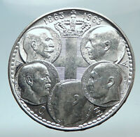 1963 GREECE w PAUL GEORGE I &II ALEXANDER CONSTANTINE Antique Silver Coin i80826