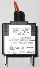 ETA 8330 Time Delay Double Pole Circuit Breaker - 2 Amp - 240 VAC - 8330-GM2B
