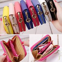Women Girls Small Coin Purse Card Zipper Wallet Holder Mini Bag Handbag Clutch