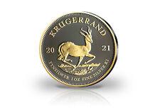 Krügerrand 1 oz Silber 2021 Südafrika mit Ruthenium und 24 Karat Gold