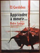 Affiche APPRENDRE A MOURIR Pedro Lazaga CORRIDA Tauromachie 120x160cm *