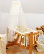 Canopy/ Drape + Holder Covers 4 sides of  Crib / Cradle / Moses Basket  - Cream