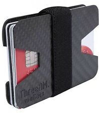 100% Carbon Fibre ID Wallet Money Clip and Credit Card Holder Slim Small Compact