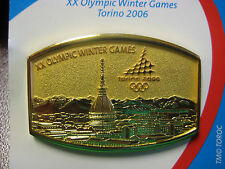 Torino 2006 Olympic Pin - Gold Colored Skyline