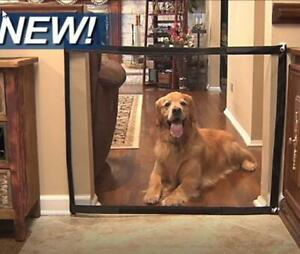 Portable Magic Gate Folding Safety Mesh Fence Guard for Pets Dog