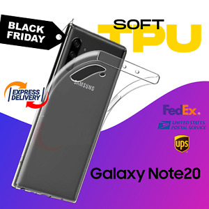 For Galaxy Note 20 Ultra 10 Plus OFFICIAL Silicon Soft Clear TPU Back Cover Case