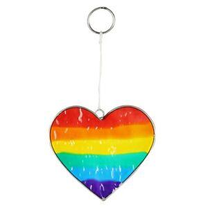 Rainbow Heart Suncatcher - Brand New