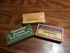 3 Antique Ammo Boxes Winchester 38-55 empty estate advertising Nr