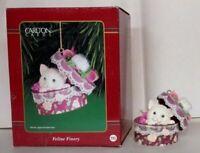 Carlton Heirloom Ornament 2000 Feline Finery - Kitten in a Hatbox - #CXOR127C-DB