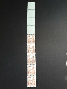 Bund Rollenmarken, Burgen und Schlösser, 5er-Streifen, Rollenende, Minr. 919