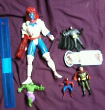 Super hero action figures lot spider man mystique batman robin incredible hulk
