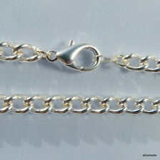 """Charm bracelet 7.5""""/16.5cm Silver plated with large lobster clasp."""
