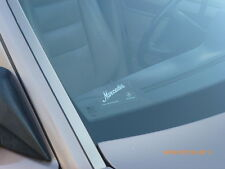 "CLEAR Windshield Decal Sticker ""Mercedes"" SCRIPT WHITE"