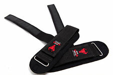 Power Lifting Straps Supports Pro GYM Fitness Training Wrist Wraps Pulldown Wrap