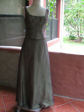 Faviana NY Formal/Evening Dress Size 12 Purple / Green Embroidery ADORABLE