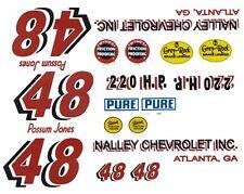 #48 Possum Jones 1957 Chevy 1/32nd Scale Waterslide Slot Car Decals