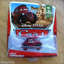 Disney PIXAR Cars UNCLE TOPOLINO 2013 FESTIVAL ITALIANO THEME CARD diecast 1/10