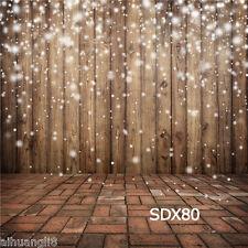 10X10FT Wood Wall Brick Floor Photography Backdrop Background Studio Prop SDX80