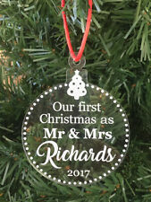 Our First Christmas Personalised Christmas Ornament Engraved Acrylic Made In Aus