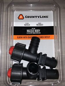 "CountyLine Nylon Nozzle  3/4"" Dry Boom Sprayer Elbow Quick Outlet 1074122"