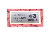 1x Nvidia GeForce 3D Vision-Ready-Plata Calcomanía caso Genuino 25 Mm x 14 MM APROX