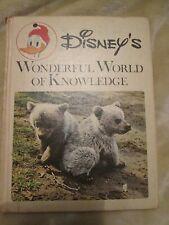 DISNEY'S WONDERFUL WORLD OF KNOWLEDGE BOOK #1 ANIMALS 1971