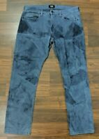 Paige Federal Mens Jeans Straight Leg Dark Wash Denim Size 34 x 32