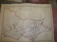 Australia Victoria circa 1863 Dispatch Atlas drawn E.Weller 31x43cm Framed20more