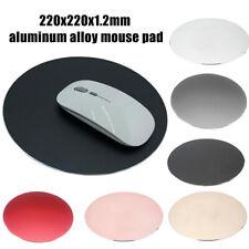 AU_ Aluminium Alloy Waterproof Round Desktop Gaming Mouse Mat Pad Computer Suppl