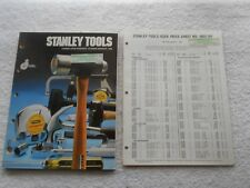 STANLEY TOOLS CATALOG 1982-AND PRICE LIST-FINE CONDITION