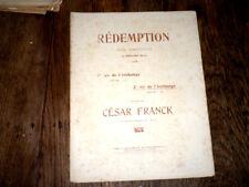 2ème air de l'Archange de Rédemption poème symphon. Ed. Blau 1907 César Franck