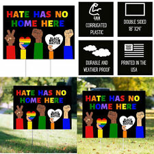 Little FootPrint Hate Has No Home Here Yard Sign with 24x18 inches, Blm2