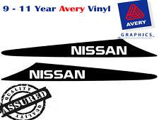 NISSAN decal to suit NISSAN Patrol GU 99-07 2 FIN Bonnet Scoop Sticker 4X4