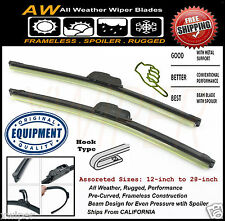 """2PC 24"""" & 22"""" Direct OE Replacement Premium ALL Weather Windshield Wiper Blades"""