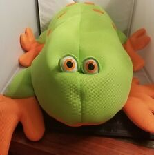 Large  Frog Comfort Research Stuffed Toy 33 in.  Body Bright green neoprene fabr