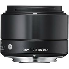 Sigma 19mm F2.8 DN 'A' Lens - Micro FourThirds Fit in Black