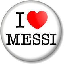 "I Love / Heart MESSI 25mm 1"" Pin Button Badge FC Barcelona Lionel Argentina Star"