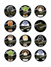STAR WARS Edible Frosting Sheet Image Cupcake Cookie Toppers Personalized