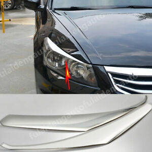 For Honda Accord 2008-12 Chrome Headlight Eyebrows Eyelid Eye Lid Brow Cover 2P