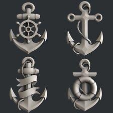3d STL models for CNC, Artcam, Aspire, relief  marine anchor