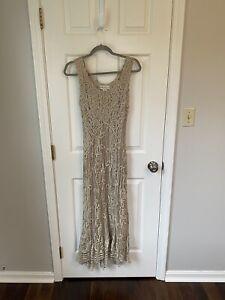Soulmates Crocheted Silk Lace Dress, Size M