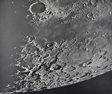 1960 Lunar Moon Map Photo Frigoris East D1-d Mount Wilson Observatory Plate W189