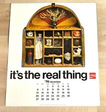 BEL Coca-Cola ANTICO CALENDARIO 1971 USA